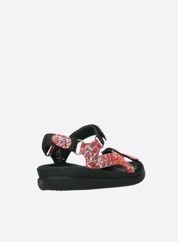 wolky sandalen 00710 energy lady 42500 rood mosaic suede back