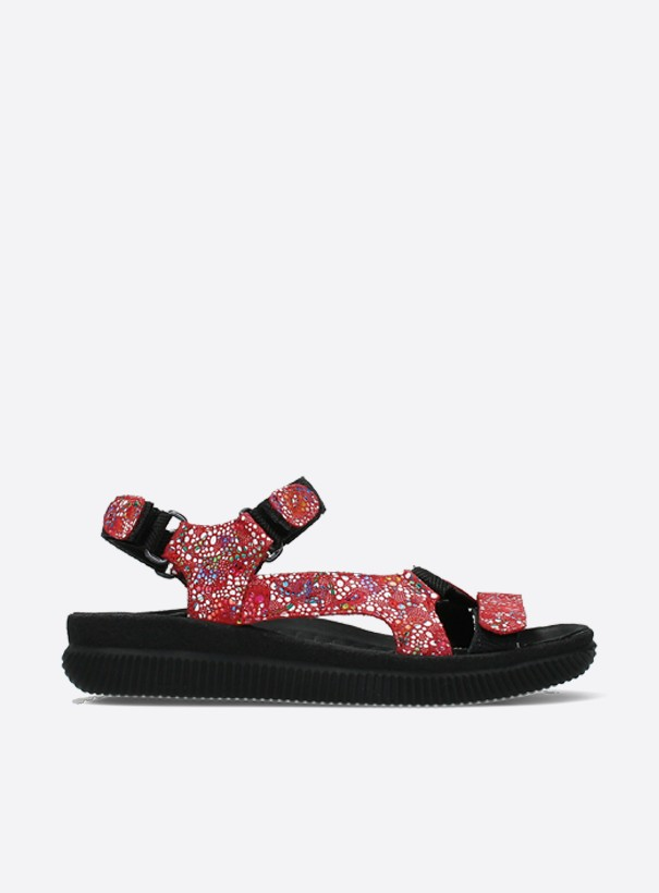 wolky sandalen 00710 energy lady 42500 rood mosaic suede