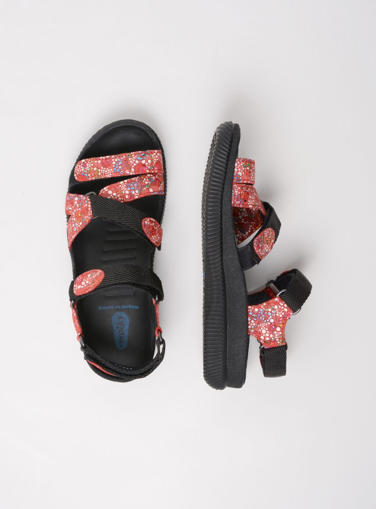 wolky sandalen 00720 action lady 42500 rood mosaic suede top