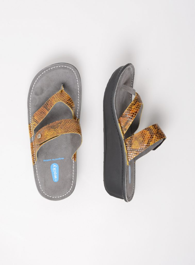 wolky slippers 00877 martinique 98920 oker snake print leer top