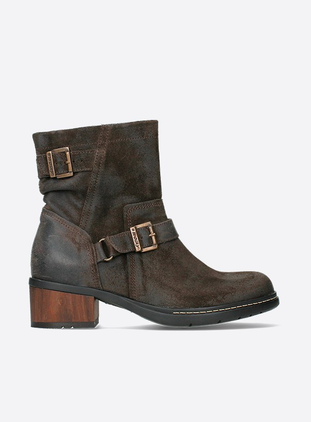 wolky biker boots 01265 raymore 45305 donker bruin suede