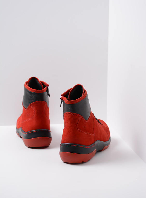 wolky extra comfort 03026 ambient 11505 donker rood nubuck back