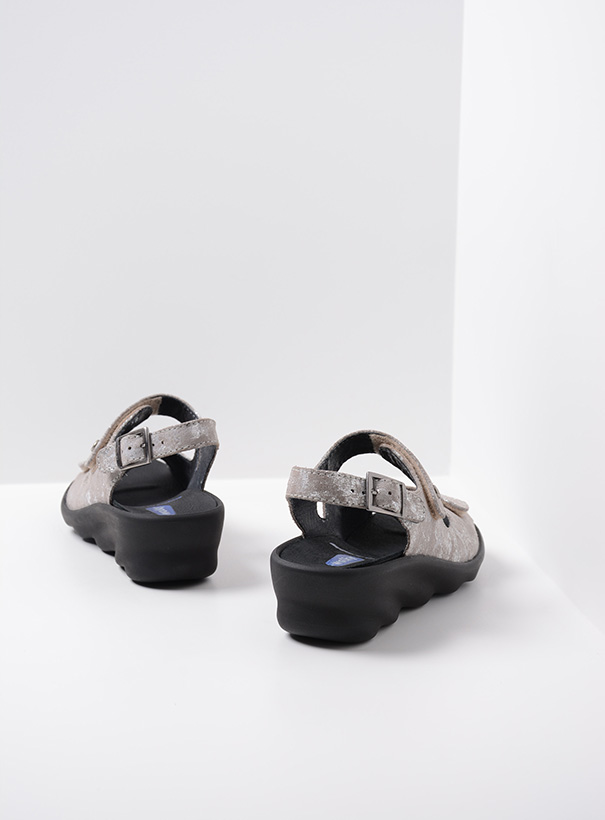wolky sandalen 03125 scala 48150 taupe geprint suede back