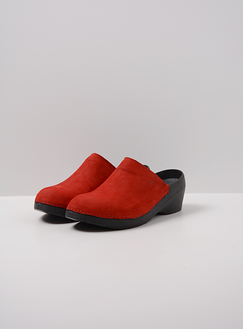 wolky medisch 06075 pro clog 11500 rood nubuck front