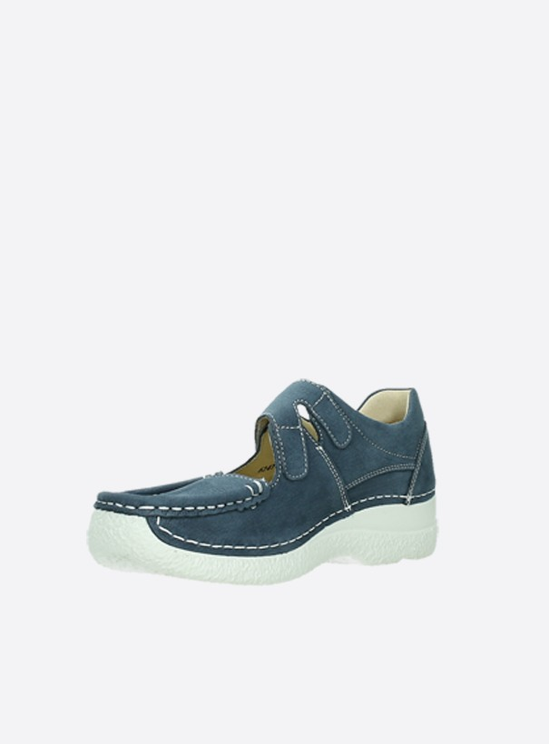 wolky extra comfort 06247 roll fever 11820 denim nubuck front