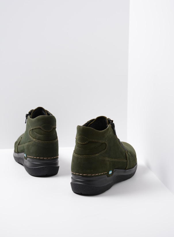 wolky extra comfort 06606 why 11735 forest groen nubuck back