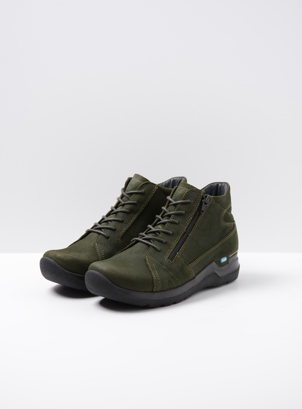 wolky extra comfort 06606 why 11735 forest groen nubuck front