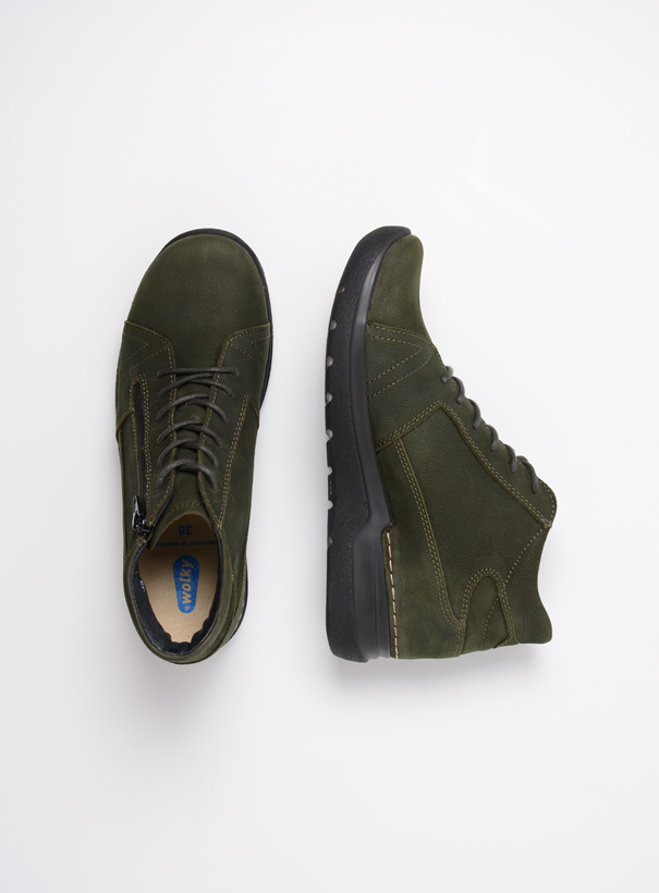 wolky extra comfort 06606 why 11735 forest groen nubuck top