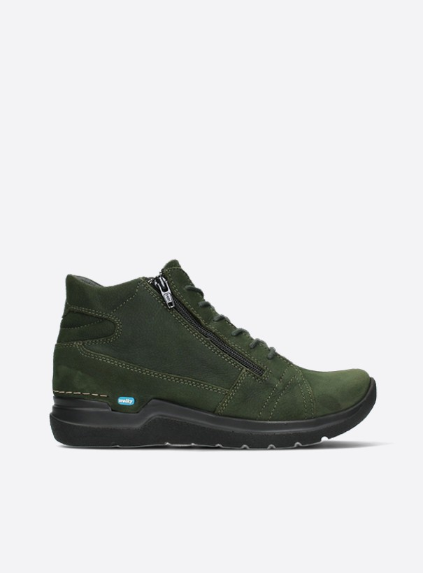 wolky extra comfort 06606 why 11735 forest groen nubuck