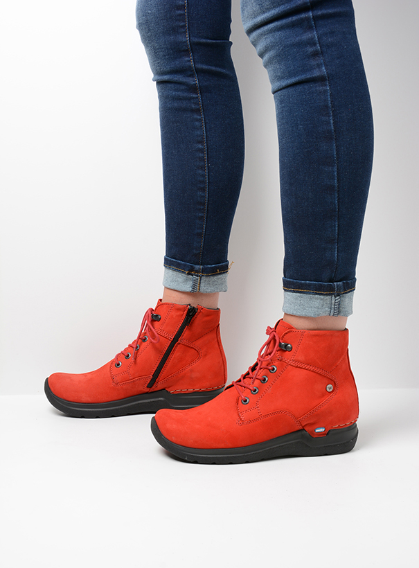 wolky extra comfort 06612 whynot 16505 donkerrood nubuck detail