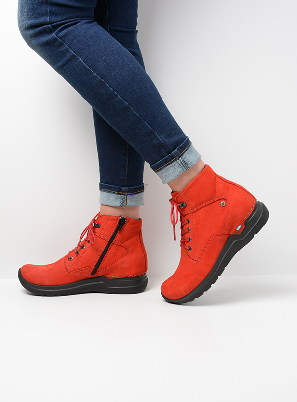 wolky extra comfort 06612 whynot 16505 donkerrood nubuck sfeer