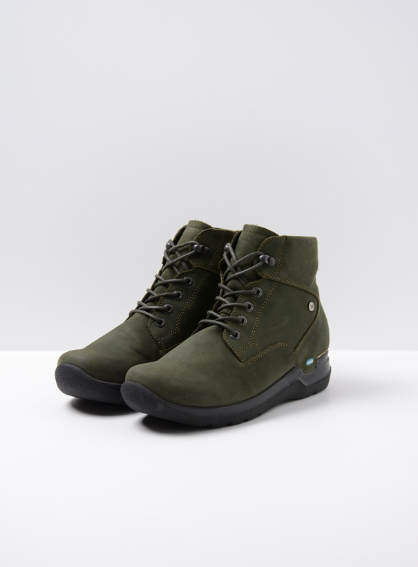 wolky extra comfort 06612 whynot 16735 forest groen nubuck front