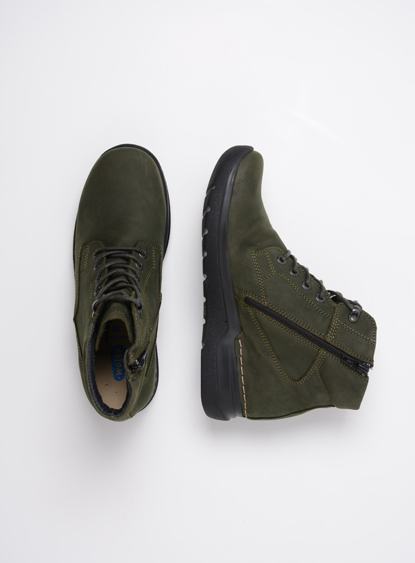 wolky extra comfort 06612 whynot 16735 forest groen nubuck top