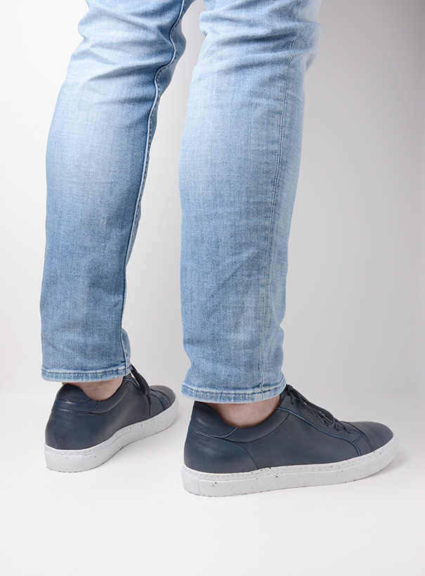 wolky sneakers 09483 forecheck 22800 blauw leer detail